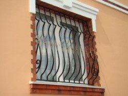 оконная сварная дутая решетка для окна