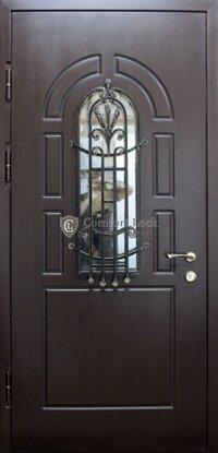 профильные металлические двери со стеклом